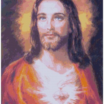 counted Cross Stitch Pattern Sacred heart of Jesus  165*231 stitches CH1398