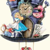 counted cross Stitch Pattern disney alice cuckoo clock 212*385 stitches CH2159