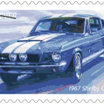 Counted Cross Stitch pattern muscle car shelby GT 500 259 * 165 stitches BN002