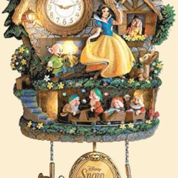 counted cross Stitch Pattern snow white cuckoo clock 243*368 stitches CH2161