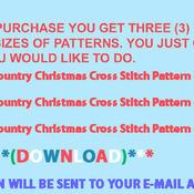 CRAFTS Country Christmas Cross Stitch Pattern***L@@K***