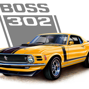 CRAFTS ORANGE BOSS 302 MUSTANG Cross Stitch Pattern***L@@K***
