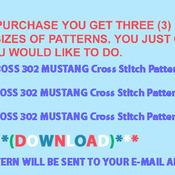 CRAFTS ORANGE BOSS 302 MUSTANG Cross Stitch Pattern***L@@K***
