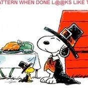 CRAFTS Snoopy Thanksgiving Cross Stitch Pattern***L@@K***