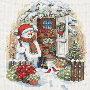 CRAFTS Snowmans Holiday Shed Cross Stitch Pattern***L@@K***