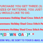 ( CRAFTS ) Snowmans Holiday Shed Cross Stitch Pattern***L@@K***Buyers Can Download Your Pattern As Soon As They Complete The Purchase