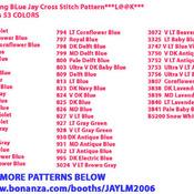Frosty Morning BLue Jay Cross Stitch Pattern***L@@K***$4.95***
