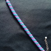 Handmade Pink Purple Blue Green Spiral Tubular Bracelet Jewellery