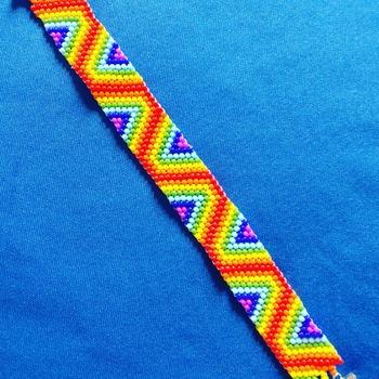 Handmade Rainbow Stripe Bracelet Jewellery