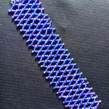 Handmade Royal Blue Net Bracelet Jewellery