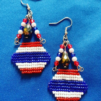 Handmade Thailand Haxegon Earrings Jewellery