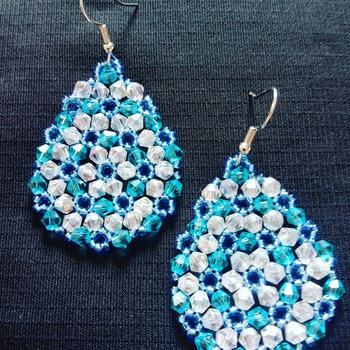 Handmade Water Drop Earrings Jewellery