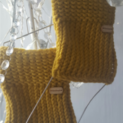 chunky knit ribbed boot cuffs