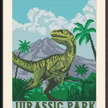 CRAFTS Jurassic Park Cross Stitch Pattern***L@@K***$4.95