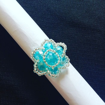 Handmade Blue Rose Ring Jewellery
