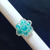 Handmade Blue Rose Ring Jewellery