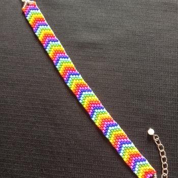 Handmade V Shape Rainbow Bracelet Jewellery