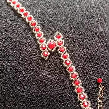 Handmade Zigzag Crystal Glass Bracelet Jewellery
