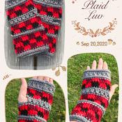 Ladies Plaid Texting Glove Crochet Pattern