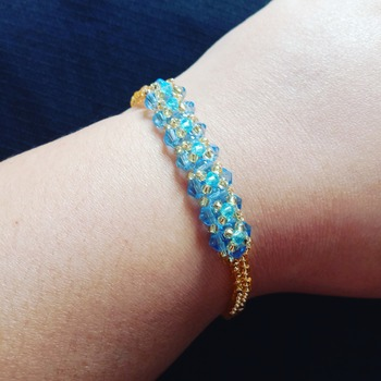 Handmade Light Blue Crystal Bracelet Jewellery