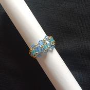 Handmade Light Blue Crystal Ring Jewellery