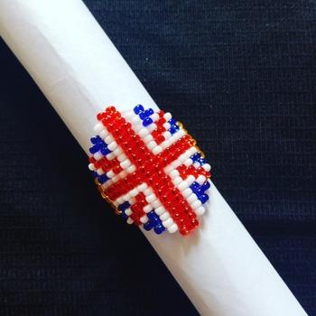 Handmade United Kingdom Flag Ring Jewellery