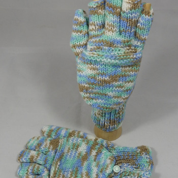 Knitted Multicoloured Convertible Gloves - FREE SHIPPING