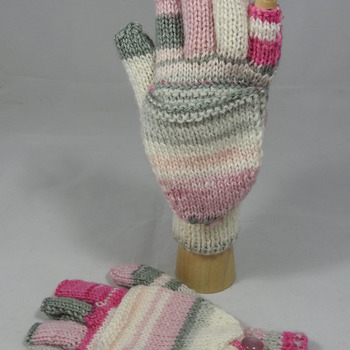 Knitted Random Coloured Convertible Gloves - FREE SHIPPING