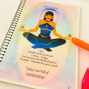 BROW CHAKRA - Indigo - Journal / Notebook Gift Set with Information, Affirmation & FREE Matching Bookmark - Anja - Spiritual Artwork by Livz