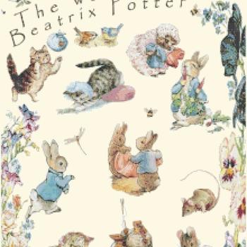 Counted cross Stitch Pattern beatrix potter world 218 *356 stitches CH1374