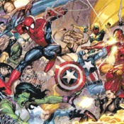 counted cross stitch pattern Marvel superheroes 303*171 stitches CH552