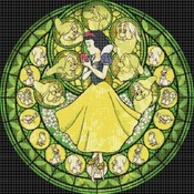 Counted Cross stitch pattern Snow white stained glass 276*268 stitches CH768