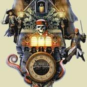 counted cross Stitch pirates caribbean cuckoo clock 242*459 stitches CH2155