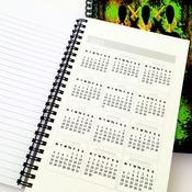 Ethnic Shimmer - A5 Notebook. Black background. Original artwork by Livz.