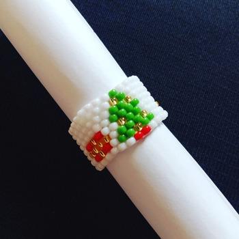 Handmade Christmas Tree Ring Jewellery