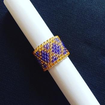 Handmade Purple Gold Diamond Shape Ring Jewellery