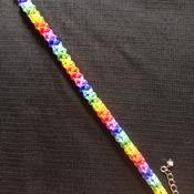 Handmade Rainbow Tubular Bracelet Jewellery