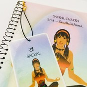SACRAL CHAKRA - Orange - Journal / Notebook. Affirmation & FREE Matching Bookmark - Svadhisthana. Spiritual Artwork