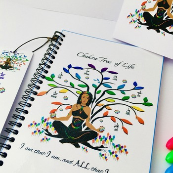 Tree of Life - SPIRAL Notepad with matching Greeting Card & FREE Matching Bookmark. Original artwork by Livz
