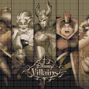 Counted Cross Stitch pattern disney villains 303*172stitches CH1727
