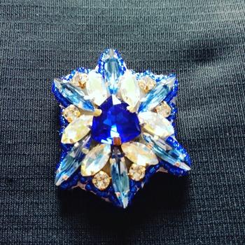 Handmade The Blue Lagoon Brooch Jewellery