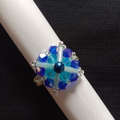 Handmade Criss Cross Blue Square Ring Jewellery