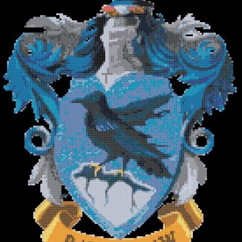 counted Cross Stitch Pattern potter Ravenclaw coat 134 * 166 stitches CH1457