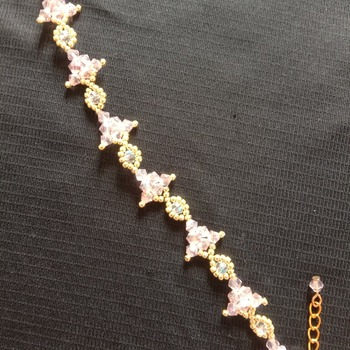Handmade Pink Crystal Triangle Eye Bracelet Jewellery