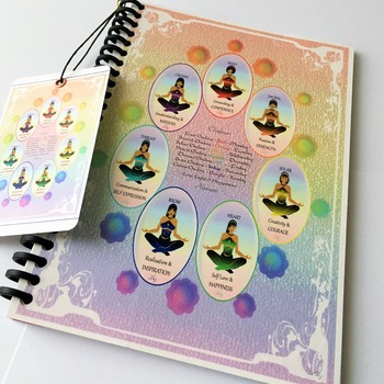 MEDITATI0N JOURNAL - ADD, REMOVE or RE-ARRANGE Pages to suit your needs. Starter Journal. 7 major chakra sections by Livz Design