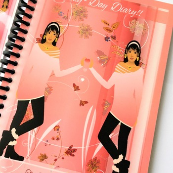 REFILLABLE ANYDAY DIARY JOURNAL - Pink 1 week per page dairy. Days Printed.
