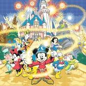 counted cross stitch pattern Disney magic puzzle pdf 496*372 stitches CH079