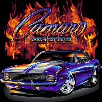 CRAFTS 69 Camaro Flames Cross Stitch Pattern***L@@K***ON SALE ONLY 2.95