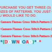 ( CRAFTS ) 69 Camaro Flames Cross Stitch Pattern***L@@K***Buyers Can Download Your Pattern As Soon As They Complete The Purchase
