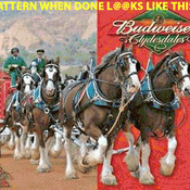 ( CRAFTS ) Budweiser Clydesdales Cross Stitch Pattern***L@@K***Buyers Can Download Your Pattern As Soon As They Complete The Purchase